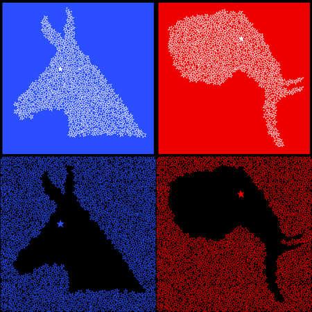 Star polical symbols Stock Vector - 6981959