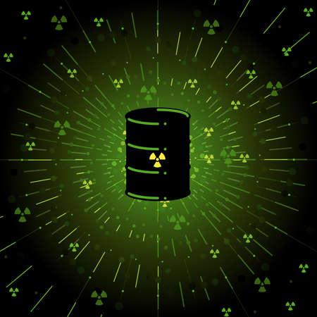 Radioactive barrel Stock Vector - 6981957