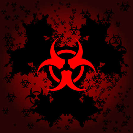 Biohazard grunge background Stock Vector - 6981964