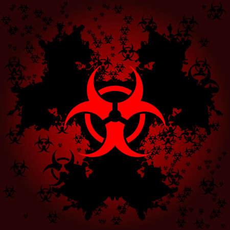 hazardous: Biohazard grunge background