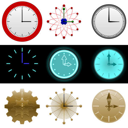 Clock icons Stock Vector - 7009704