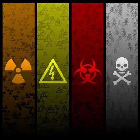 hazardous: Banner pericolose  Vettoriali