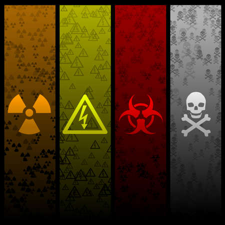 Hazardous banners Vector
