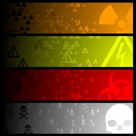Hazardous banners Vector