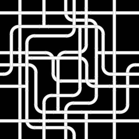 kunststoff rohr: Nahtlose Rohr-Hintergrund Illustration