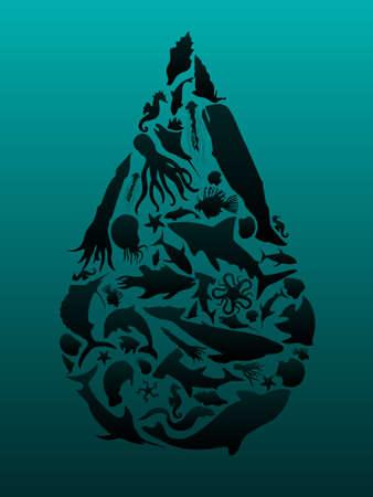 pez espada: Gota de aceite