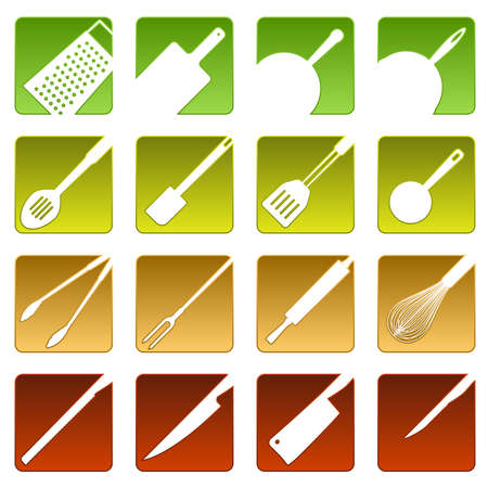 scraper: Sixteen cooking icons