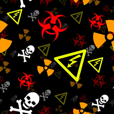 biohazard: Seamless hazard background Illustration
