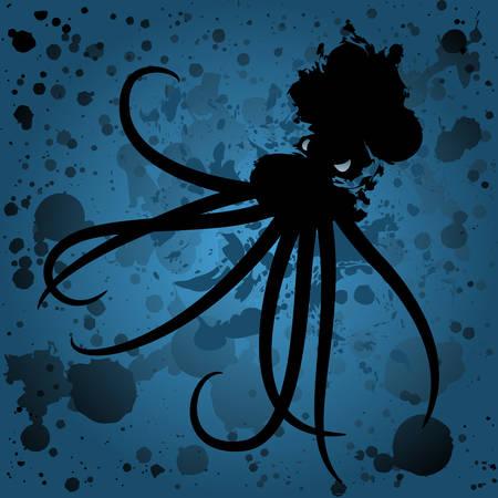 Oil spill octopus at sea
