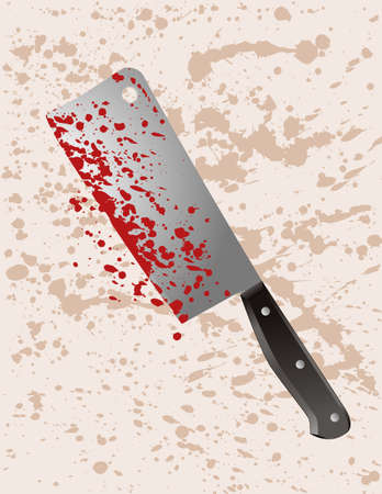 Murder weapon cleaver Stock Vector - 7232325