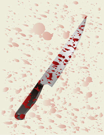 Bloody knife Stock Vector - 7232326