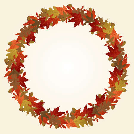 Autumn wreath 版權商用圖片 - 7232323