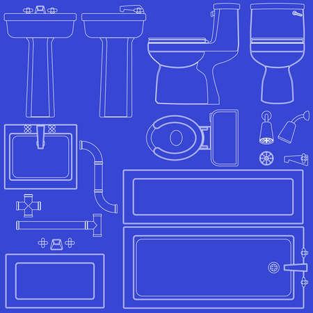 pedestal sink: Blueprint bathroom fixtures