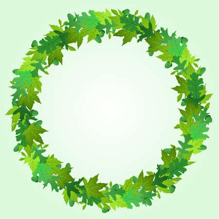Summer wreath Illustration
