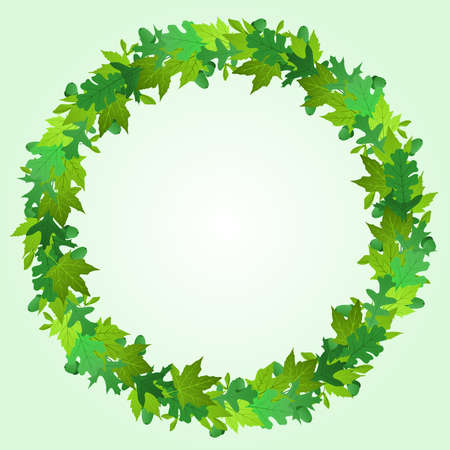 Summer wreath Vector