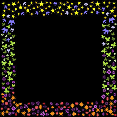Nature icon frame Vector