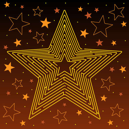 gold star: Star maze