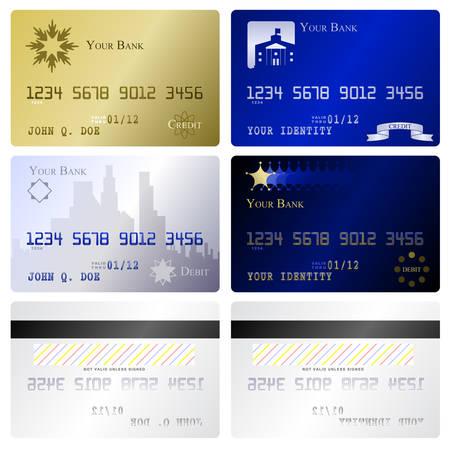 atm card: Plantillas de tarjeta de cr�dito  Vectores