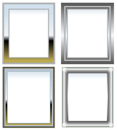 Silver and chrome frames Stock Vector - 7355440