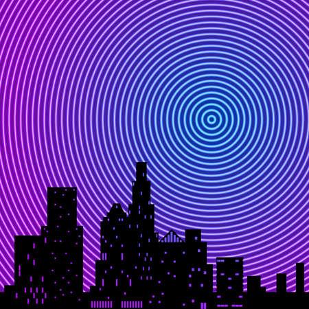 City neon rings