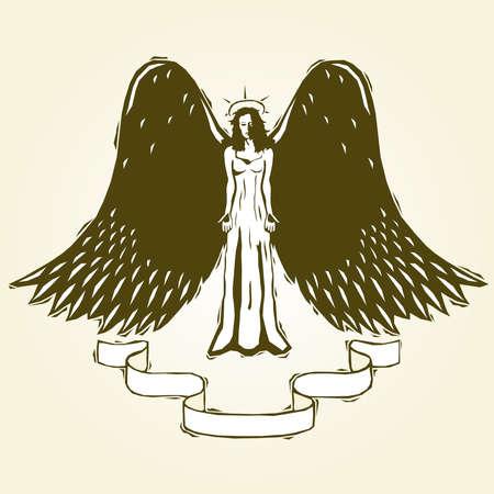 angel: woodcut angel