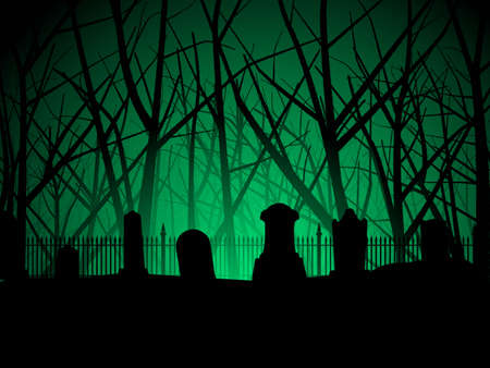 scary forest: Graveyard and trees background