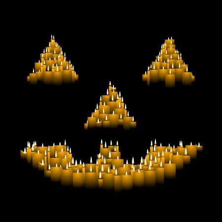 jack o: Candle jack o lantern