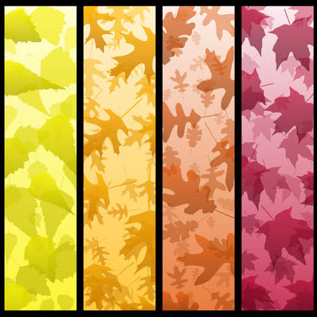Four vertical autumn banners Stock Vector - 7539655