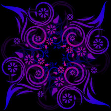 Bloemen tattoo geïnspireerd ontwerp  Stock Illustratie