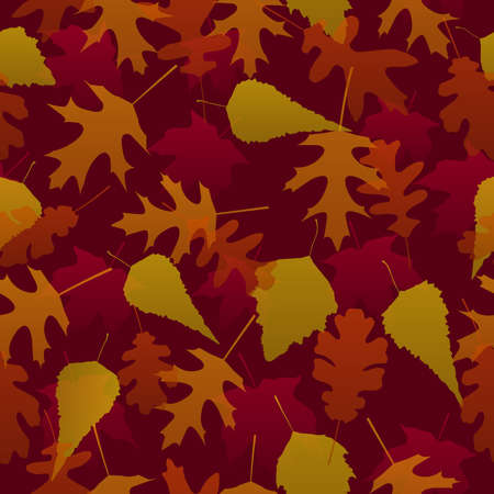 Seamless autumn leaves Ilustracja