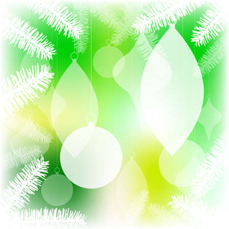 diffuse: Ornaments in tree Illustration