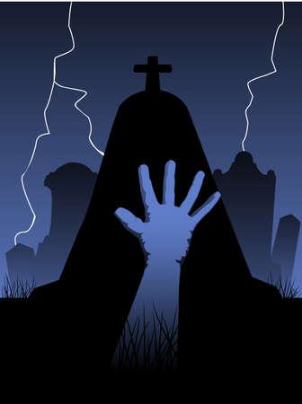 Zombie-Hand  Standard-Bild - 7615747