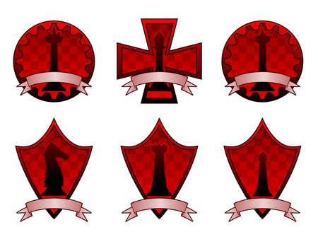 Crêtes d'échecs noires Banque d'images - 7637164