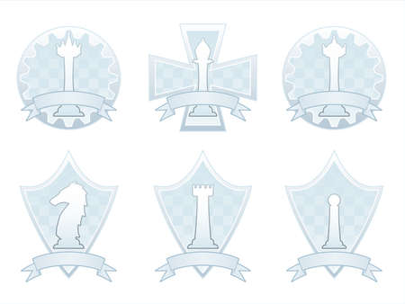 White Chess crests Vector