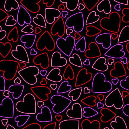 Sfondo del cuore senza soluzione di continuità al neon  Archivio Fotografico - 7742703