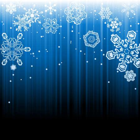 抽象的な冬の降雪の背景