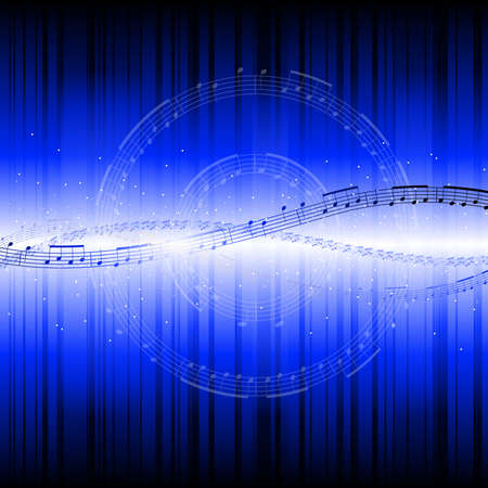 blue backgrounds: Abstract musical background