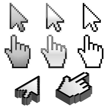 Set of cursor pointers