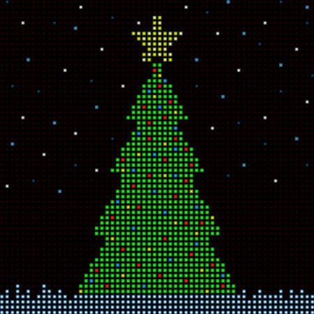 led: Digital Christmas tree