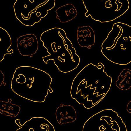 jack o: Seamless jack o lantern background