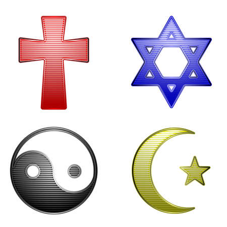 Religion icons Stock Illustratie