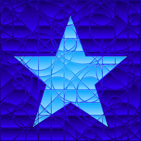 Stained glass star Ilustrace
