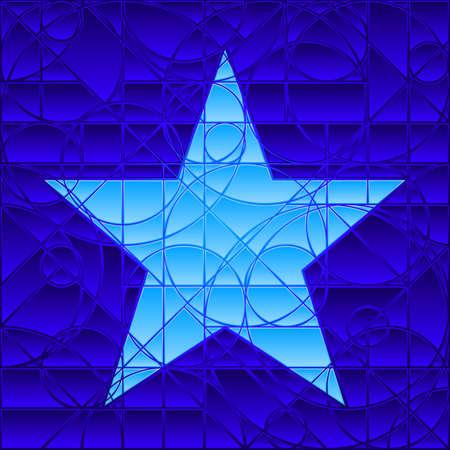 vetrate artistiche: Stella di vetrate