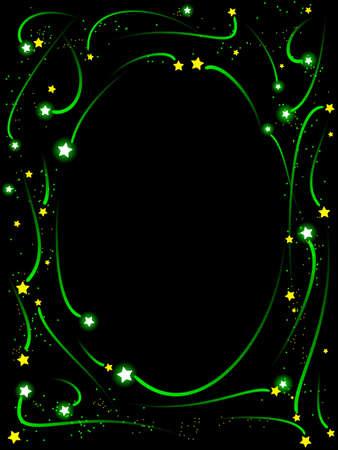 Shooting star frame 版權商用圖片 - 7947283