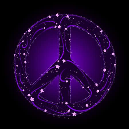 etoiles filante: Signe de paix Shooting star