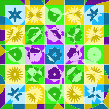 Spring quilt Vector