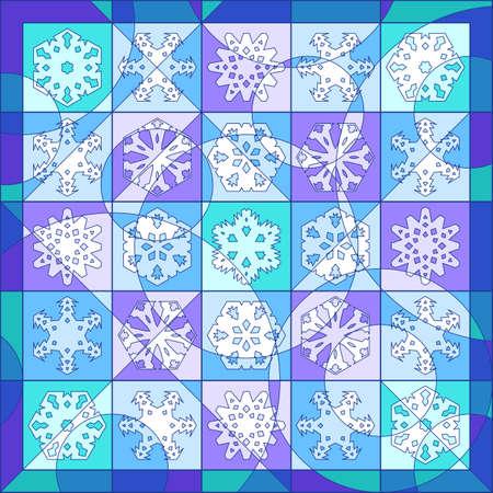 mosaic: Snowflake quilt