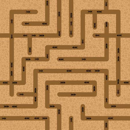 シームレスな ant のファームの背景  イラスト・ベクター素材