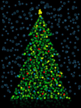 Unfocused Christmas Tree Vector