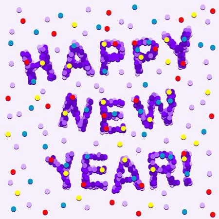 Confetti Happy New Year